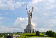 Das Mutterlands-Monument in Kyiv, Ukraine Lizenzfreies Stockfoto