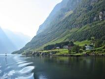 Das Nærøyfjord Lizenzfreies Stockfoto