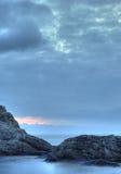 Das Nachtmeer Stockfotos
