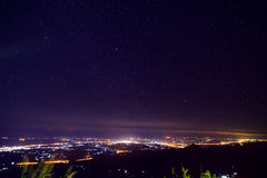 Das Nachtstadt scape Lizenzfreies Stockbild