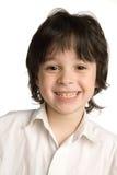Das Nahaufnahmeportrait des kleinen Jungen Stockfotos
