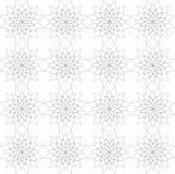 Das nahtlose geometrische Muster, bestehend blüht in Schwarzweiss Stockfoto