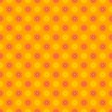 Nahtloses glückliches und buntes Blumenmuster Stockfotografie