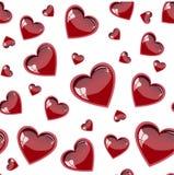 Das nahtlose Muster mit Herzen. Vektor Lizenzfreies Stockbild