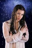 Das nasse Mädchen Lizenzfreie Stockfotos