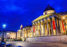 Das National Gallery im Trafalgar-Platz Stockfotos