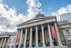 Das National Gallery in London Stockbilder