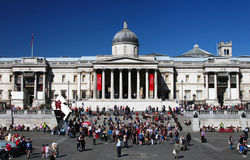 Das National Gallery Londons Trafalgar im Quadrat stockbild