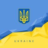 Das nationale Sonderzeichen der Ukraine - abstrakter Hintergrund Lizenzfreies Stockbild