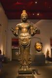 Das Nationalmuseum Bangkok, alter Stein-Buddha Stockfoto