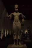 Das Nationalmuseum Bangkok, alter Stein-Buddha Lizenzfreie Stockbilder