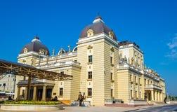 Das Nationaltheater von Mazedonien lizenzfreie stockbilder