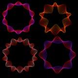 Das Neonglühen Stern-beschriftet. Lizenzfreie Abbildung