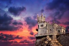 Das Nest der Schloss-Schwalbe Stockbild