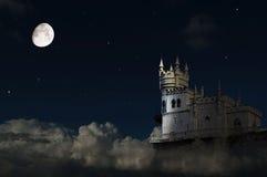 Das Nest der Schloss-Schwalbe lizenzfreie stockfotografie