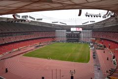 Das Nest des Vogels, Nationalstadion, Peking, China stockfoto