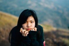 Das nette asiatische Mädchen Stockfoto