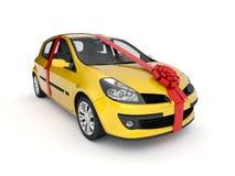 Das neue Auto in einem Geschenk Stockfotos