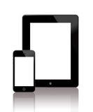 Das neue iPad und das iPhone 5 stock abbildung