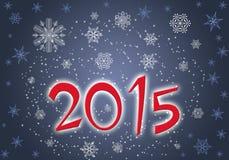 Das neue Jahr 2015 der Voraussetzung Lizenzfreies Stockbild