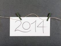 Das neue Jahr 2014 Stockfotos