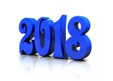 Das neue Jahr - blaues glattes 3D stellt dar Lizenzfreie Stockfotografie
