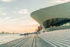 Das neue Kunstmuseum, die Architektur und Technology Museu de Arte, das Arquitetura e Tecnologia oder das MAAT lizenzfreie stockfotos