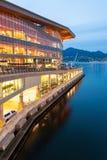 Das neue, moderne Vancouver Convention Center an der Dämmerung Stockbilder