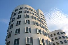 Das neue Zollhof Dusseldorf, Deutschland - 13. August 2015 Stockfotografie