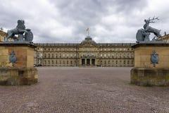 Das Neues Schloss New Castle. Stuttgart. Stock Photography