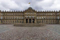 Das Neues Schloss New Castle. Stuttgart. Royalty Free Stock Photo