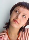 Das neugierige Mädchen lizenzfreie stockfotos