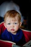 Das neugierigste Babygesicht Stockfotografie