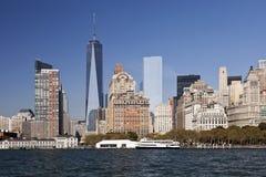 Das New York City im Stadtzentrum gelegenes w der Freiheitsturm 2014 Stockbilder
