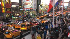 Das New- York Citytimes square stock video footage
