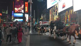 Das New- York Citytimes square stock video footage