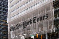Das New- York Timesgebäude Stockfotos