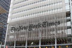 Das New- York Timesgebäude Lizenzfreie Stockbilder