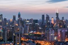 Das nightscape von Shanghai Lizenzfreies Stockbild