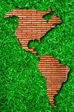Das Nordamerika und das Südamerika lizenzfreies stockbild