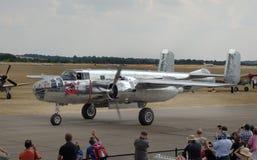 Das nordamerikanische B-25 Mitchell ist ein amerikanischer zweistrahliger, mittlerer Bomber, der durch nordamerikanische Luftfahr stockfotos