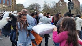 Das 2016 NYC-Kissenschlacht-Tagesteil 2 87 Lizenzfreie Stockbilder
