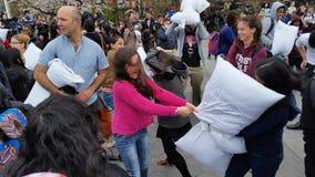 Das 2016 NYC-Kissenschlacht-Tagesteil 3 3 Lizenzfreies Stockbild