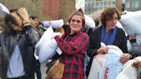 Das 2016 NYC-Kissenschlacht-Tagesteil 3 72 Stockfotos