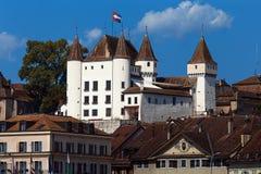 Das Nyon-Schloss - Nyon - die Schweiz Stockbild