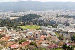 Das Odeon von Herodes-Atticus auf der Südsteigung der Akropolises Stockfotos