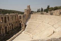 Das Odeumtheater Athen Stockfotos