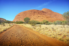 Das Olgas in Australiens Hinterland Stockfotos