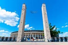 Das Olympiastadion in Berlin Lizenzfreie Stockfotos