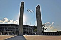 Das Olympiastadion Berlin Stockbild